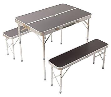 IRISPLAZA(アイリスプラザ) テーブルベンチセット アウトドア 折りたたみ 幅90×奥行60cm 57670010
