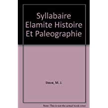Syllabaire Elamite Histoire Et Paleographie