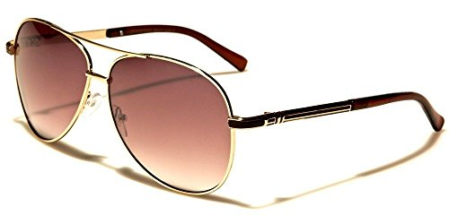 Gold Amber Skyline Collection Classic Double Bridge Men'S Aviator - Skyline Sunglasses Police