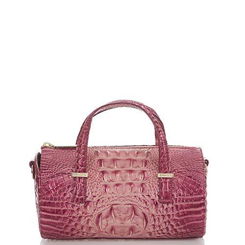 Brahmin Claire Melbourne Embossed Leather Barrel Bag, Lotus (Leather Barrel Handbags)