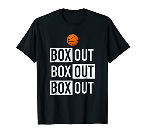 Mens Funny Basketball Player T-Shirt Basketball Coach Box Out Tee Medium Black