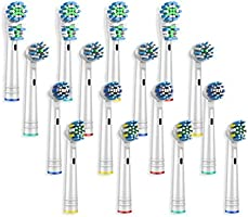 Boston Tech 16 cabezales universales Variados compatibles para cepillos de dientes eléctricos Braun, Oral B, Boston Tech,...