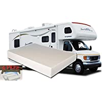 12-Inch Queen MEDIUM-FIRM Memory Foam Short Mattress for RV, Camper - Made in the USA - 2 FREE Pillows