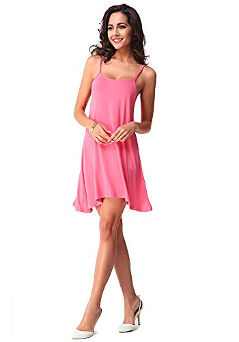 Dress s Summer Pink Sexy Women Backing Suspenders Halter DOOXILADY BZ70F7