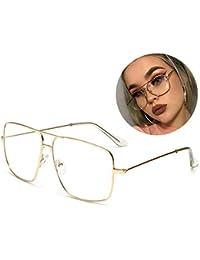 Classic Glasses Clear Lens Non Prescription Metal Frame...