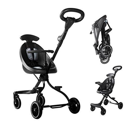 ??  Light Weight Pushchair Easy Folding Stroller|Kids' Tricycles Pushchair (Black)