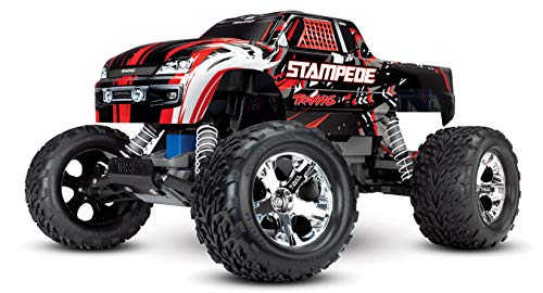 Traxxas Stampede 1/10 2WD Monster Truck with TQ 2.4GHz Radio, Red, 1:10 Scale (Scale Rc Truck Nitro 10 1)