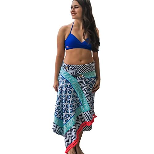7c131077db low-cost Simple Sarongs Women's Beach Towel Swimsuit Cover-up Wrap ...
