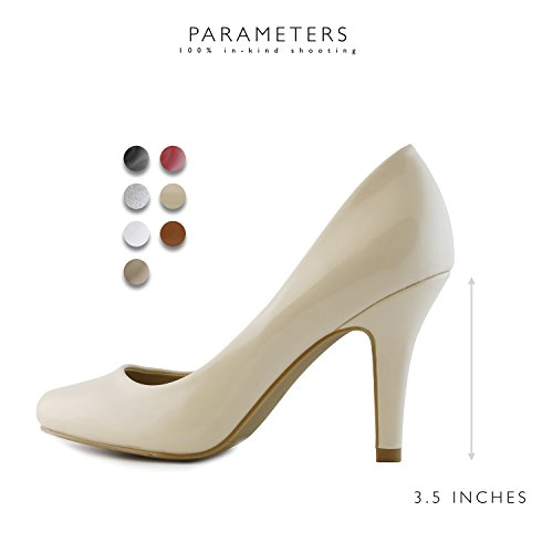 DailyShoes Pump Nude Fashion Evening Elegant Round Classic Heel Lily Stiletto 01 Women's Pt Low Dress Toe Party High Versatile Shoes qwfxEBwr4