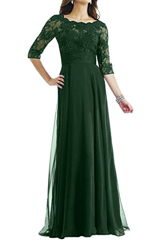 Avril of Lace Dress Dress Gown Hunter Bride Graceful Half Sleeves Mother Green Empire q4awT4rx