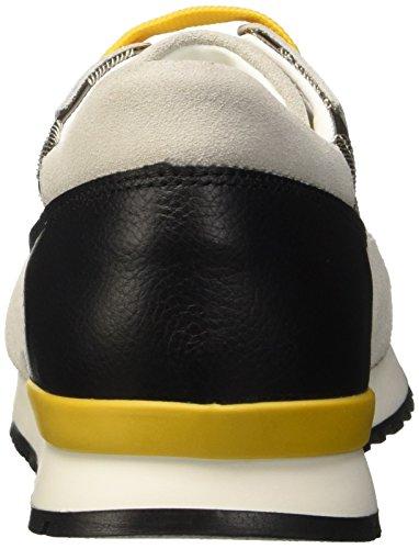 Pollini Sa15082g12t8, Zapatillas de Deporte Exterior Para Mujer Negro / Marfil / Ocre