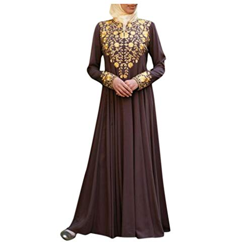 Frozen Costumes Dubai - Orfilaly Women Muslim Maxi Dress Dubai