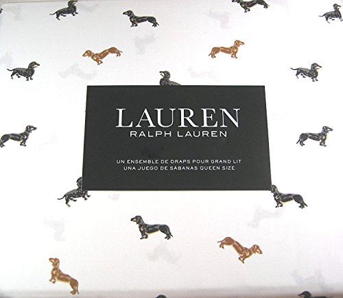 Ralph Lauren Dog - Ralph by Ralph Lauren Lauren Dachshund Dogs Sheet Set - King Size (all cotton) weiner dog