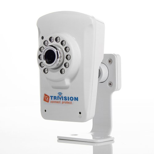 TriVision NC-213WF Wifi Wireless IP Cam for Home Security , Motion Detection Triggered Email Alerts, Infrared Night Vision, Built-in DVR Expandable to 32Gb and more, Install in 3 steps with Our Free Dedicated Apps on iPhone, iPad, Android Smartphone, Tabl