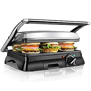 Aigostar Samson 30KLU- Griglia multifunzione per panini maker da 2000W con 2 piani di cottura 29.5 * 23.5cm. Temperatura… 19