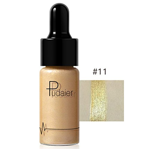 SMYTShop Face Glow Liquid Highlighter Waterproof Contour Make Up Glitter Brighten Shimmer Highlighters Makeup 12 Colors Available (12 Colors:K)