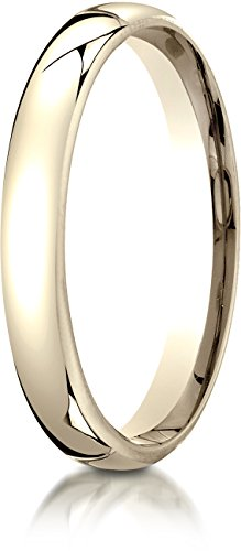 Benchmark 18K Yellow Gold 3.5mm European Comfort-Fit Wedding Band Ring, Size 11 18k Yellow Gold Designer Band