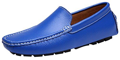 Abby 9668 Hommes Glisser À Loccasion De Nouveaux Mocassins Flexibles Conduire Des Chaussures Bleues