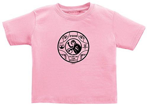 Price comparison product image Baby Shower Gifts Chinese New Year 2016 Zodiac Year Monkey Juvy T-Shirt 5/6 Pink