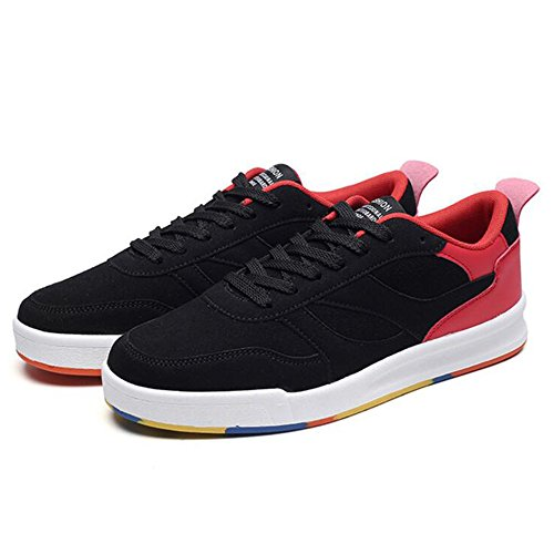 Men's Shoes Feifei Spring and Autumn Fashion Personality Wear-Resistant Leisure Plate Shoes 3 Colors (Color : 02, Size : EU42/UK8.5/CN43)
