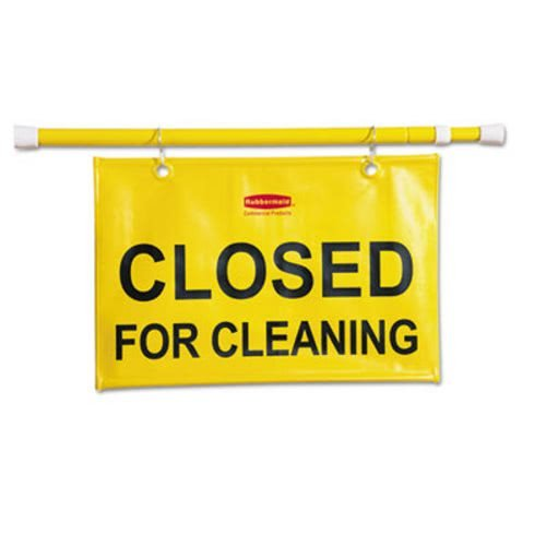 Rubbermaid Commercial Site Safety Hanging Sign, 50w x 1d x 13h, Yellow - Includes one -