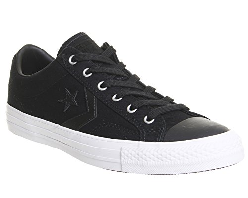 Star Ox Womens Canvas Converse Nero Player Trainers 7qT5p1x1w