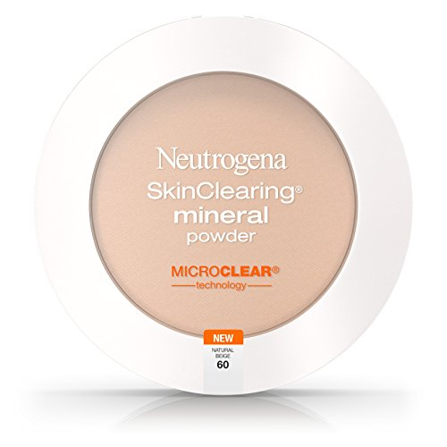 Neutrogena Skinclearing Mineral Powder, Natural Beige 60, .38 Oz. Pack of -
