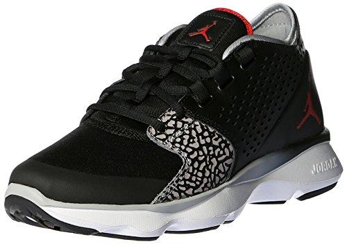 Nike M nkct LS Maglietta a maniche lunghe, uomo Black/White/Wolf Grey/Gym Red