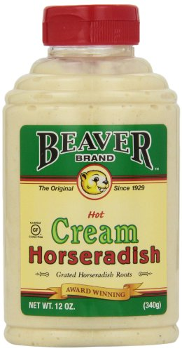 Label Bottle Oz 12 (Beaver Brand Cream Style Horseradish, 12-Ounce Squeezable Bottles (Pack of 6))