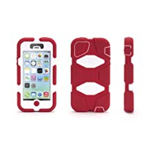 Griffin iPhone 5/5s, iPhone SE Rugged Case, Survivor All-Terrain, Crimson/White - Military-Duty Case