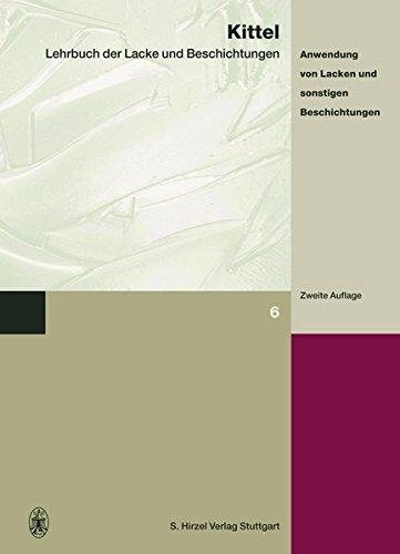 Lehrbuch der Lacke und Beschichtungen 8 pdf epub
