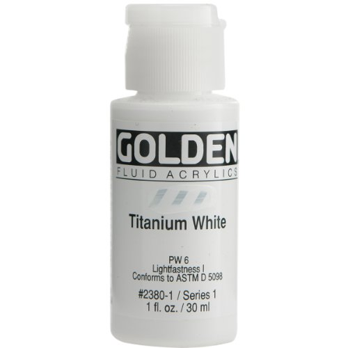 White Fluid - Golden Fluid Acrylic Paint 1 Ounce-Titanium White