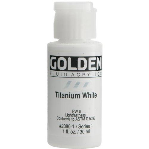 Golden Fluid Acrylic Paint 1 Ounce-Titanium White