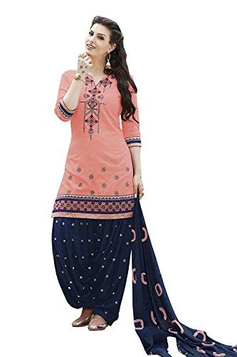Dream Angel Fashion DreamAngel Women's Cotton Patiala Salwar Suit - Suit Cotton Salwar