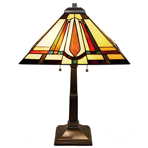 Frank Lloyd Wright Stained Glass Table Lamp - 23.5