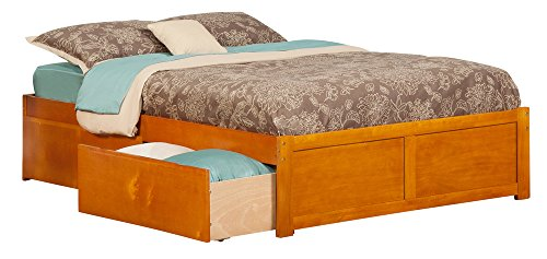 Concord Flat Panel Foot Board with 2 Urban Bed Drawers, Full