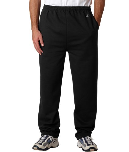 Dry Bottom Black Open Men's Pant Eco Double Fleece Champion qBUEU