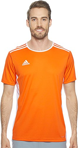 adidas Men's Soccer Entrada 18 Jersey, Orange/White, Large