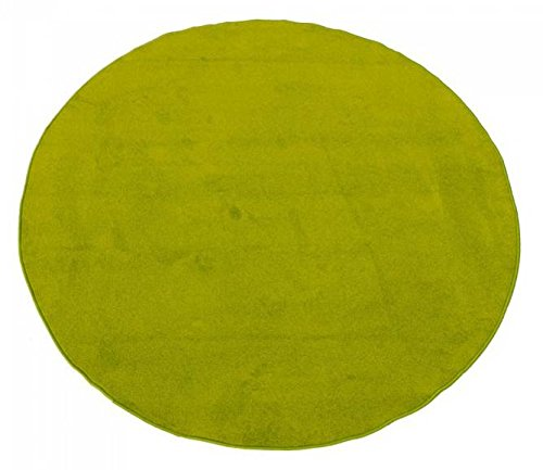 Learning Carpets Solid Green - Learning Carpets CPR465 - Solid Green Round