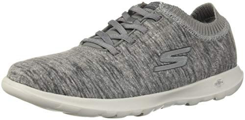 Skechers Performance Women's GO Walk Lite-15460 Sneaker,charcoal,7.5 M US