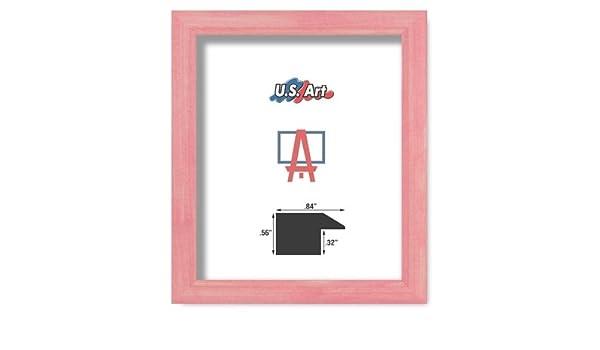 "US ART Frames 1/"" Cherry Maroon Nugget Solid Poplar Hardwood Picture Frame S-10/"""