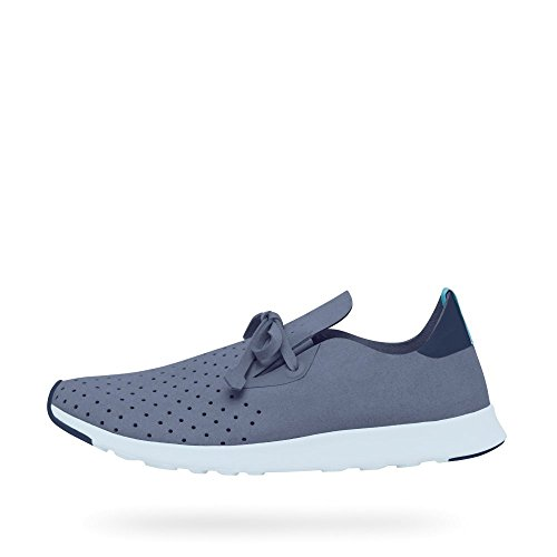 Native Apollo Moc Embroidered Polka Dot Shell White Wolf Blue/Regatta Blue/Air Blue/Regatta Rubber