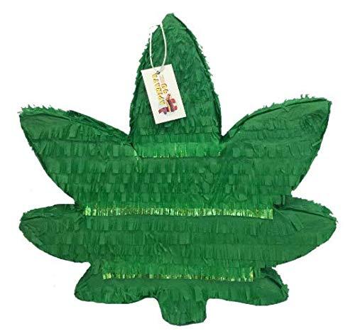 APINATA4U Hemp Leaf Pinata Marijuana Leaf Adult Party Favor Gag Gift]()