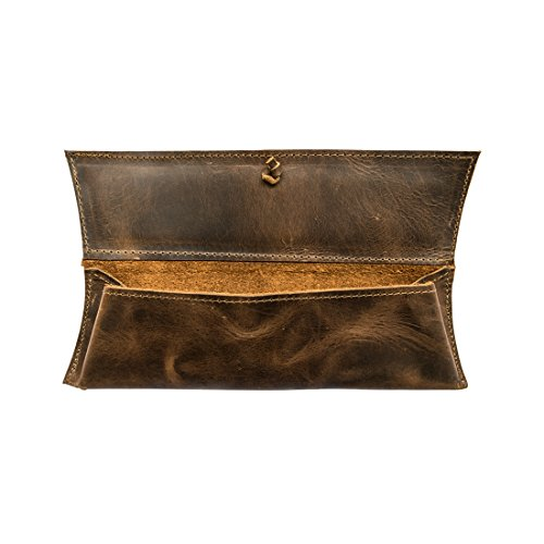 (Rustic Leather Pencil Case (Small Personal Items) Handmade by Hide & Drink :: Bourbon Brown)