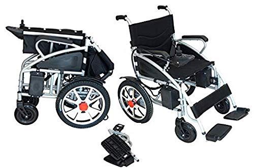 Power Wheelchair Custom (Comfy Go - Foldable Lightweight Manual Transport Medical Wheelchair (Black))