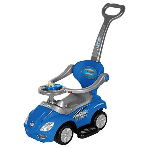 Best Ride On Cars - Coche 3 en 1, Color Azul