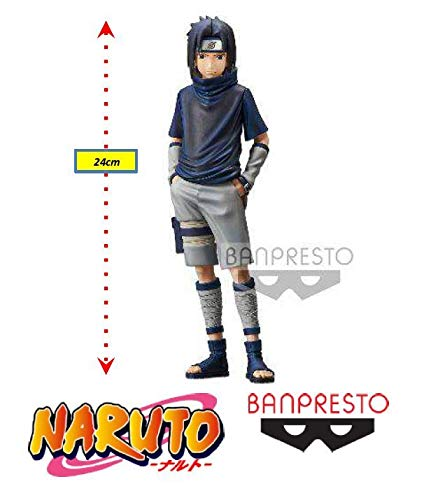 Naruto Grandista Shinobi Relations - Uchiha Sasuke - Ref.28949/28950 Bandai Banpresto Cores Diversas, Feita Com Pintura Aerográfica