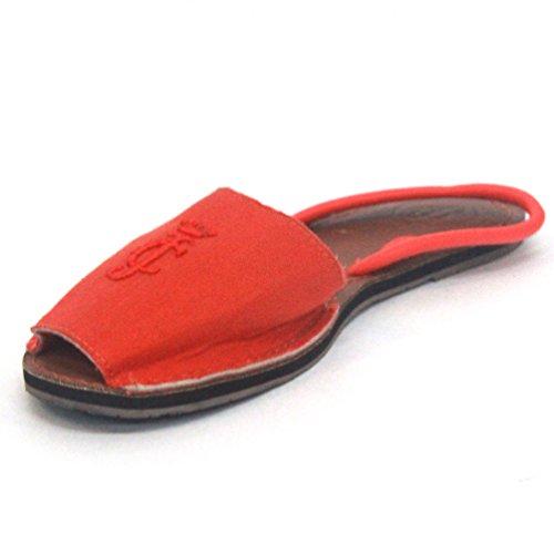 Juicy Couture y pedrería para mujer de ante para patucos, estándar del Reino Unido 3 RRP £85 azul - Orange Fizz