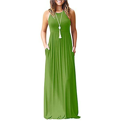 Vestido Delgado Primavera Maxi Mujer Vaina M Armygreen TTDRESS qvwxt8p77