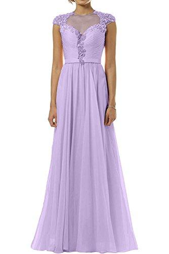 Neu Chiffon Flieder Abendkleider Marie Langes La Damen Partykleider Brautmutterkleider Promkleider Braut wgq14P
